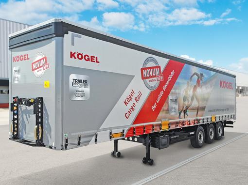 Naczepa Kögel Cargo Rail generacji NOVUM