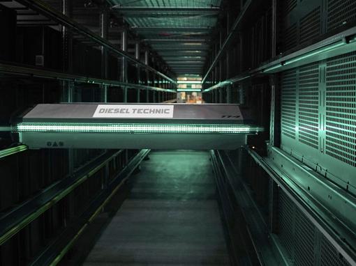 Zautomatyzowany magazyn części Diesel Technic