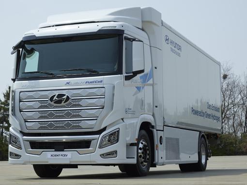 Wodorowa ciężarówka Hyundai wjeżdża do Europy